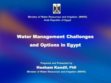 Water Management Challenges and Options in Egypt - International ...