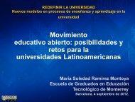 Movimiento educativo abierto: posibilidades y retos para la ... - LMI