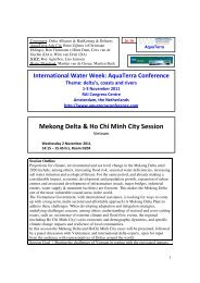 Mekong Delta & Ho Chi Minh City Session - International Water ...