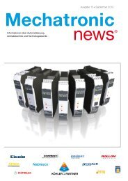 Mechatronic News - Ausgabe 10 - September 2012 - Köhler + Partner