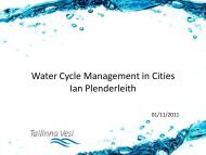 Water Cycle Management in Cities Ian Plenderleith - International ...