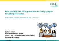 Best practices of local governments as key players - International ...