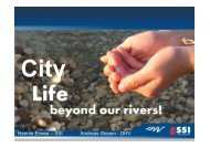 City Life Beyond our Rivers! - International Water Week 2013