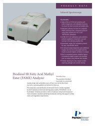 Biodiesel IR Fatty Acid Methyl Ester (FAME) Analyzer - PerkinElmer