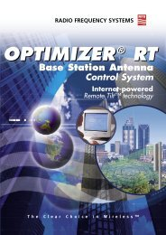 Optimizer RT Promotional Brochure - Radio Frequency Systems