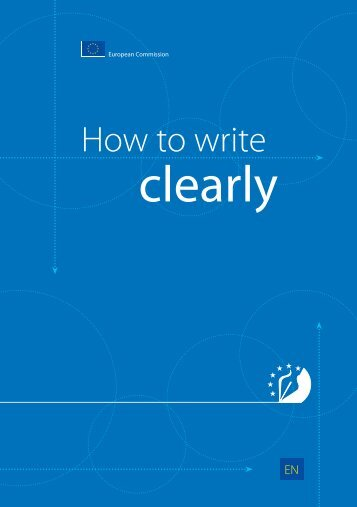 How to write clearly - European Commission - Europa
