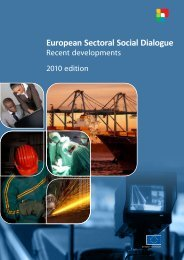 European Sectoral Social Dialogue - European Commission - Europa