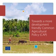 Towards a more development friendly Common Agricultural Policy ...