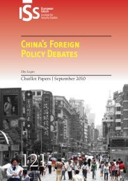 China's Foreign Policy Debates - European Union Institute for ...