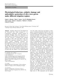 Physiological behaviour, oxidative damage and antioxidative ...