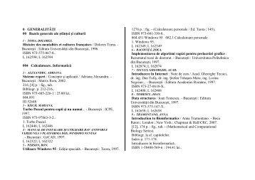 0 GENERALITĂŢI 00 Bazele generale ale ştiinţei şi culturii Histoire ...