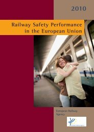 Railway Safety Performance in the European Union - ERA - Europa