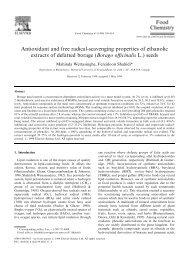 Antioxidant and free radical-scavenging properties of ethanolic ...