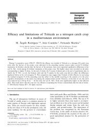 Efficacy and limitations of Triticale as a nitrogen catch crop in a ...