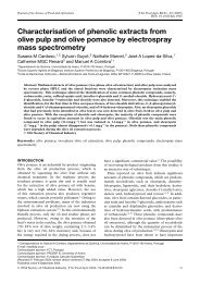 Characterisation of phenolic extracts from olive pulp and ... - ESAC