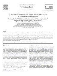 In vivo anti-inflammatory and in vitro antioxidant activities of ...