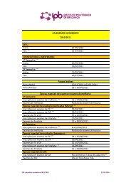 IPB calendario academico 1011