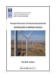 INTRODUÇÃO À ENERGIA EÓLICA Rui M.G. Castro