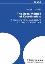 The Open Method of Coordination: - European Union Center of ...