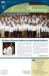 Winter 2007 [pdf] - University of Kentucky - College of Pharmacy