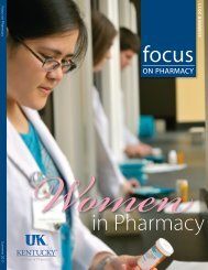 Summer 2011 [pdf] - University of Kentucky - College of Pharmacy