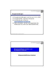 maximal 4 Personen Anmeldung per E-Mail an: orga-hiwi@wis