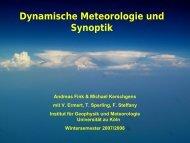 Dynamische Meteorologie und Synoptik - Universität zu Köln