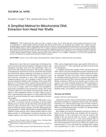Mitochondrial dna dating method