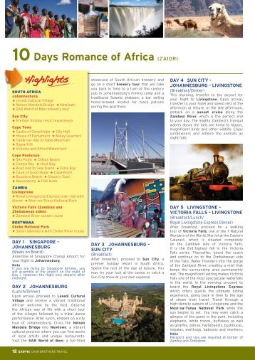 10Days Romance of Africa (ZA10R) - Chan Brothers