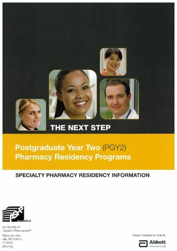PGY2 Pharmacy Residency Programs - American Society of Health ...