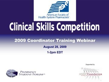 Clinical Skills Competition Training Session