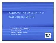 Addressing Insulin in a BarcodingWorld