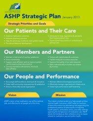 ASHP Strategic Plan - American Society of Health System Pharmacists