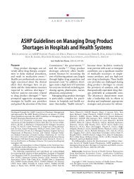 ASHP Guidelines on Managing Drug Product Shortages - American ...