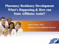 Pharmacy Residency Development What's Happening & How can ...