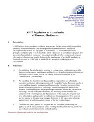 ASHP Guidelines on Managing Drug Product Shortages - American