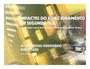 IMPACTES DO ESTACIONAMENTO EM SEGUNDA FILA - CRP