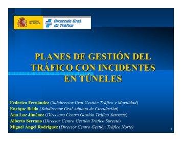 planes de gestión del tráfico con incidentes en túneles - CRP