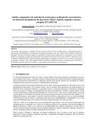 Análise comparativa de métodos de ensaio para avaliação ... - CRP