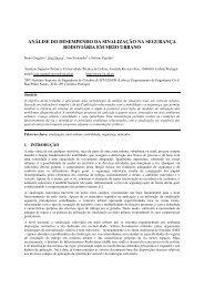 análise do desempenho da sinalização na segurança ... - CRP