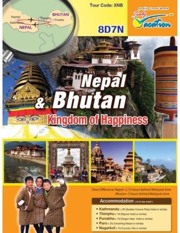8 Days 7 Nights Nepal + Bhutan (XNB) - My Vacation Travel