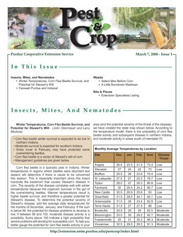 In This Issue Insects, Mites, And Nematodes - Purdue Extension ...