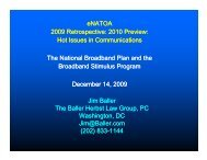 The National Broadband Plan and the Broadband Stimulus Program