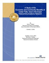 A Study of the Economic and Community Benefits of Cedar Falls ...