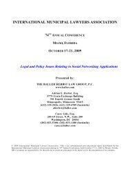 Legal and Policy Issues Relating to Social Networking - The Baller ...