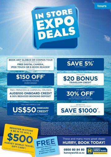free us$50 - Harvey World Travel
