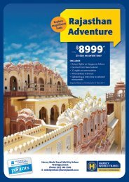 to view the flyer online - Harvey World Travel