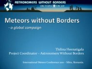 Meteors without Borders - International Meteor Organization