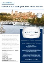 uniworld 2014 Boutique River cruises Preview - Harvey World Travel
