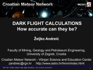Dark flight calculations - how accurate can they be?